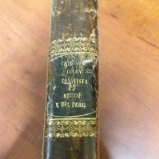 Libros antiguos: TRES LIBROS EN UNO , CRISTÓBAL COLÓN , CONQUISTA DE MÉXICO Y CONQUISTA DEL PERÚ.. Lote 160412576