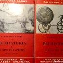 Libros antiguos: PREHISTORIA, 2 TOMOS, M. HOERNES - F. BEHN. Lote 160516026