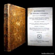Libros antiguos: AÑO 1790 ANTIGUA GRECIA Y ROMA SÓCRATES ALEJANDRO MAGNO ASTRONOMÍA MEDICINA HISTORIA CASTELLANO. Lote 216446880