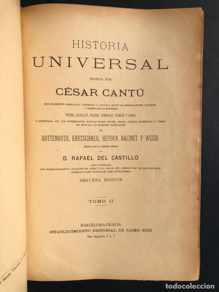 Alte Bücher: 1886 ROMA - GRECIA - ARQUEOLOGIA - MUNDO ANTIGUO -HISTORIA UNIVERSAL - folio - laminas grabados - Foto 2 - 161274274