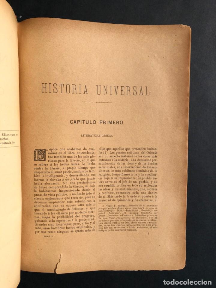 Alte Bücher: 1886 ROMA - GRECIA - ARQUEOLOGIA - MUNDO ANTIGUO -HISTORIA UNIVERSAL - folio - laminas grabados - Foto 3 - 161274274