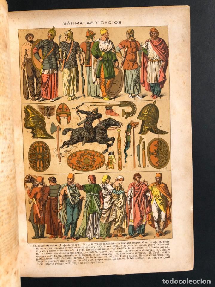 Alte Bücher: 1886 ROMA - GRECIA - ARQUEOLOGIA - MUNDO ANTIGUO -HISTORIA UNIVERSAL - folio - laminas grabados - Foto 4 - 161274274