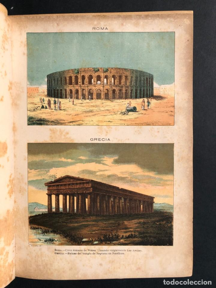 Alte Bücher: 1886 ROMA - GRECIA - ARQUEOLOGIA - MUNDO ANTIGUO -HISTORIA UNIVERSAL - folio - laminas grabados - Foto 5 - 161274274
