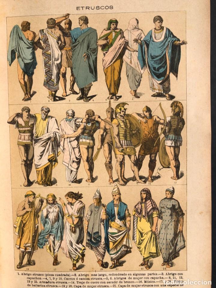 Alte Bücher: 1886 ROMA - GRECIA - ARQUEOLOGIA - MUNDO ANTIGUO -HISTORIA UNIVERSAL - folio - laminas grabados - Foto 7 - 161274274