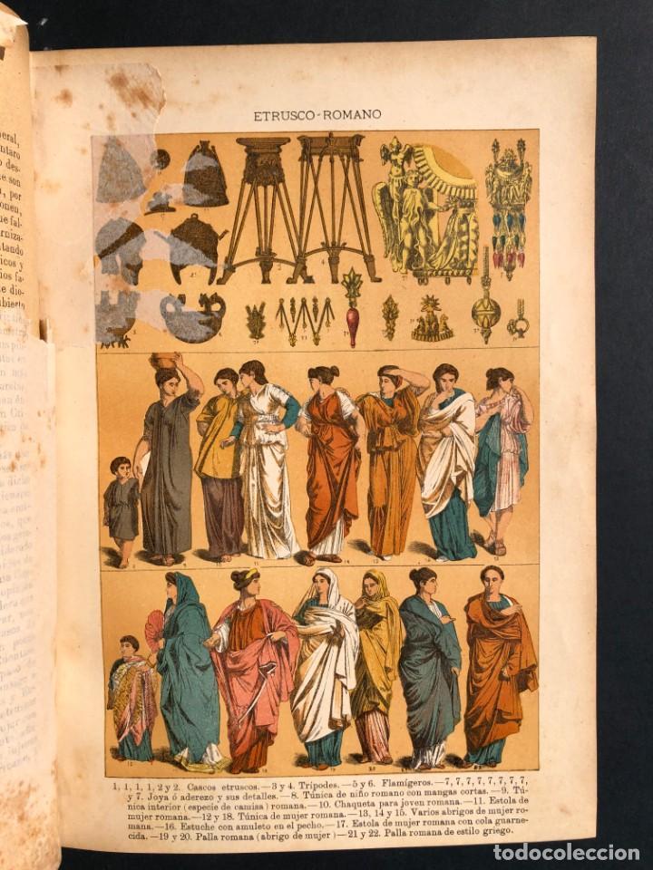 Alte Bücher: 1886 ROMA - GRECIA - ARQUEOLOGIA - MUNDO ANTIGUO -HISTORIA UNIVERSAL - folio - laminas grabados - Foto 8 - 161274274