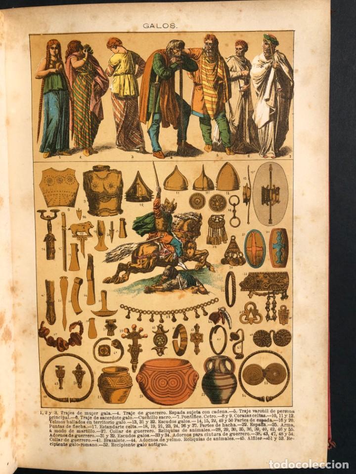 Alte Bücher: 1886 ROMA - GRECIA - ARQUEOLOGIA - MUNDO ANTIGUO -HISTORIA UNIVERSAL - folio - laminas grabados - Foto 10 - 161274274