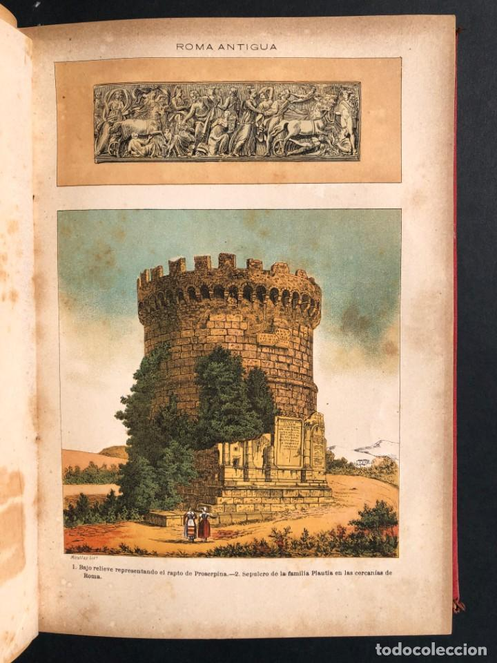 Alte Bücher: 1886 ROMA - GRECIA - ARQUEOLOGIA - MUNDO ANTIGUO -HISTORIA UNIVERSAL - folio - laminas grabados - Foto 11 - 161274274