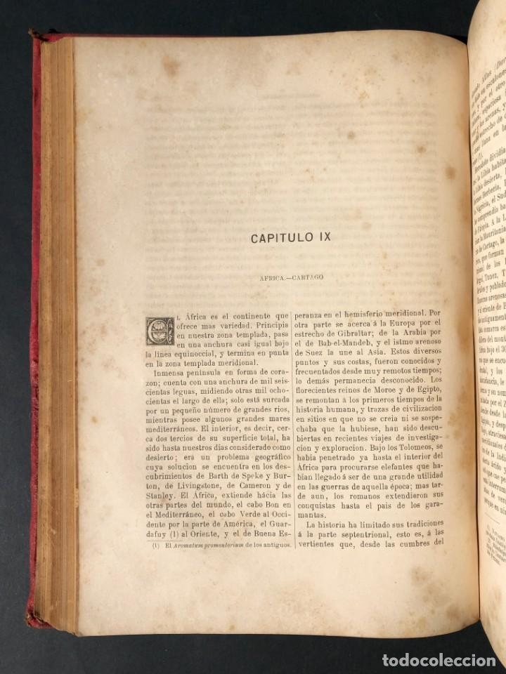 Alte Bücher: 1886 ROMA - GRECIA - ARQUEOLOGIA - MUNDO ANTIGUO -HISTORIA UNIVERSAL - folio - laminas grabados - Foto 13 - 161274274