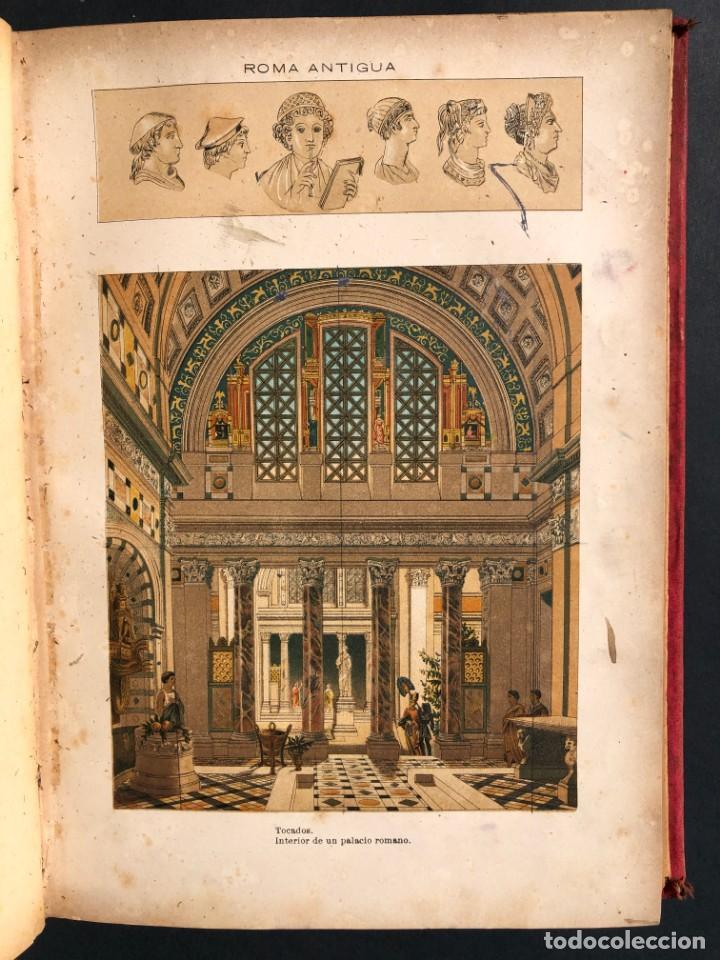 Alte Bücher: 1886 ROMA - GRECIA - ARQUEOLOGIA - MUNDO ANTIGUO -HISTORIA UNIVERSAL - folio - laminas grabados - Foto 16 - 161274274