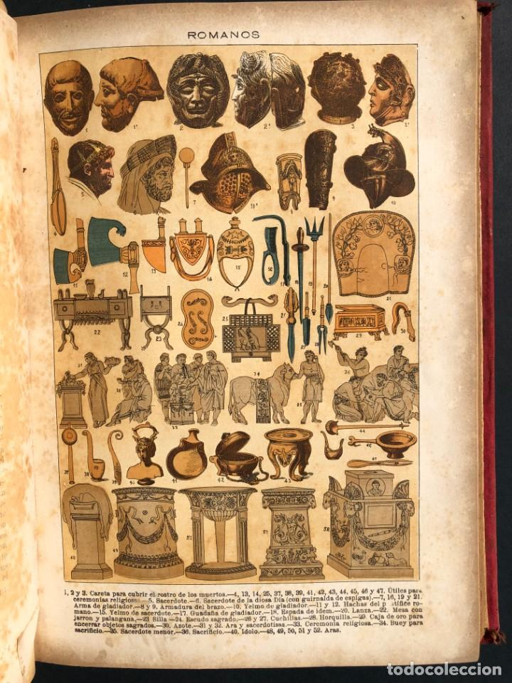Alte Bücher: 1886 ROMA - GRECIA - ARQUEOLOGIA - MUNDO ANTIGUO -HISTORIA UNIVERSAL - folio - laminas grabados - Foto 17 - 161274274