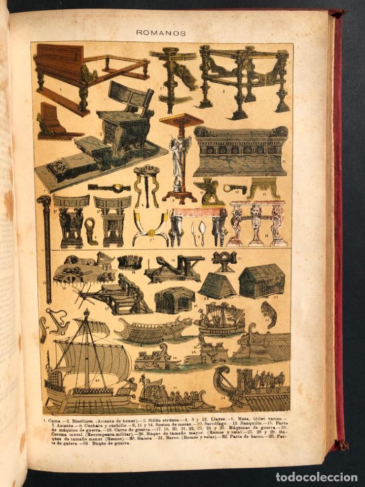 Alte Bücher: 1886 ROMA - GRECIA - ARQUEOLOGIA - MUNDO ANTIGUO -HISTORIA UNIVERSAL - folio - laminas grabados - Foto 18 - 161274274