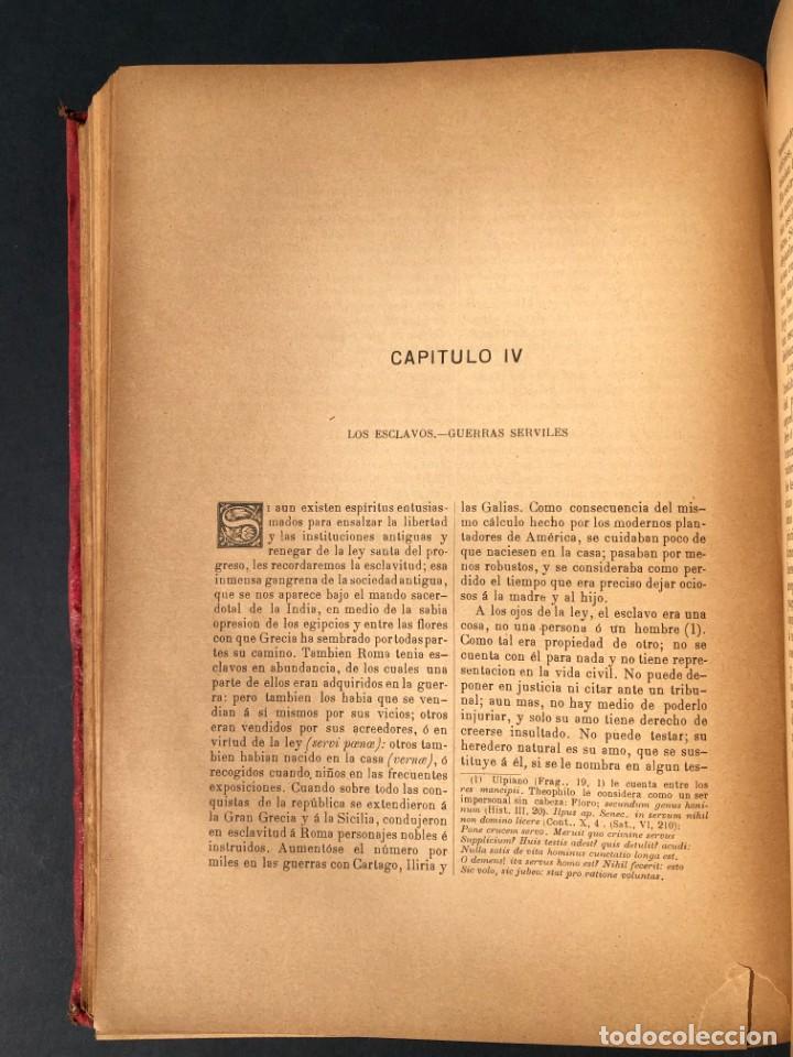 Alte Bücher: 1886 ROMA - GRECIA - ARQUEOLOGIA - MUNDO ANTIGUO -HISTORIA UNIVERSAL - folio - laminas grabados - Foto 22 - 161274274