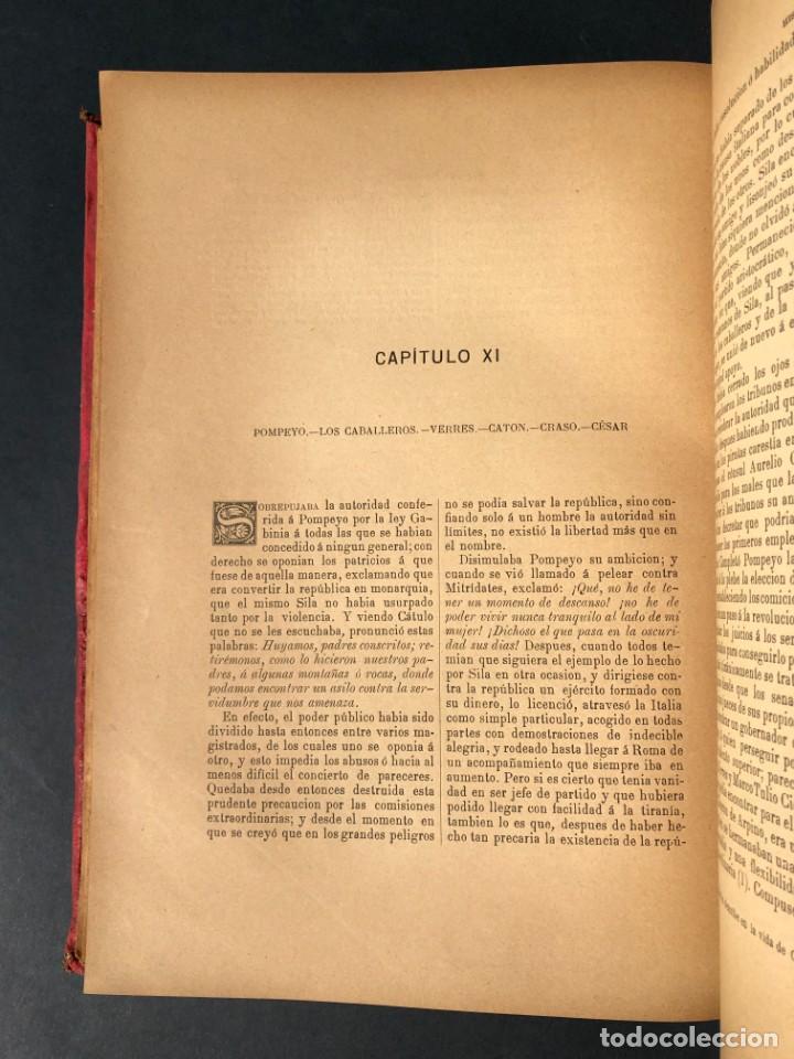 Alte Bücher: 1886 ROMA - GRECIA - ARQUEOLOGIA - MUNDO ANTIGUO -HISTORIA UNIVERSAL - folio - laminas grabados - Foto 23 - 161274274