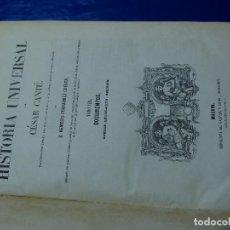 Libros antiguos: HISTORIA UNIVERSAL CANTÚ. 10 TOMOS. 1858. Lote 161300250
