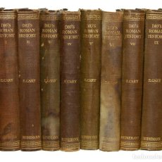 Libros antiguos: DIO'S ROMAN HISTORY. 8 VOLS (DE 9). WILLIAM HEINEMANN / G.P. PUTNAM´S SONS / THE MACMILLAN 1914-1927. Lote 161308866
