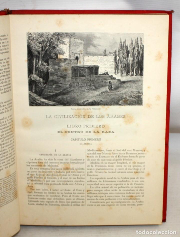Libros antiguos: LA CIVILIZACION DE LOS ÁRABES-DR GUSTAVO LEBON-1886 - Foto 7 - 162809710