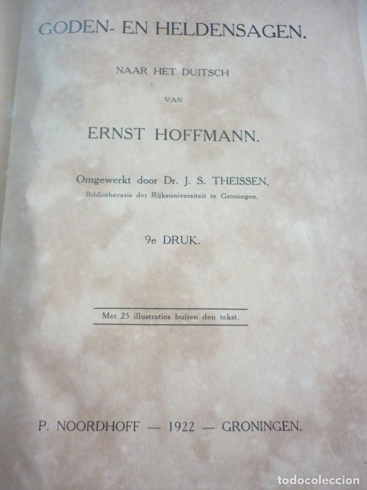 Libros antiguos: GODEN= EN HELDENSAGEN. 1922 GRONINGEN - Foto 2 - 163610346