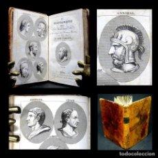 Libros antiguos: AÑO 1830 PERSONAJES ILUSTRES DE LA ANTIGÜEDAD GRABADOS GRECIA ROMA EL NUEVO PLUTARCO DE LA JUVENTUD. Lote 163708566