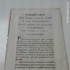 Libros antiguos: LOTE DE DOCUMENTOS DE LA ORDEN DE LOS CABALLEROS DE SANTIAGO 1770 CA. Lote 163790534