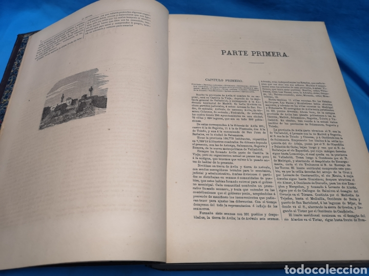 Libros antiguos: Antiguo libro de 1870, crónica general de España, Ávila, Logroño, Santander, Soria, Segovia-Burgos. - Foto 8 - 163827258