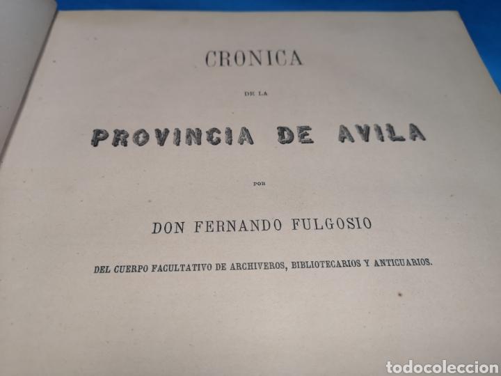 Libros antiguos: Antiguo libro de 1870, crónica general de España, Ávila, Logroño, Santander, Soria, Segovia-Burgos. - Foto 7 - 163827258