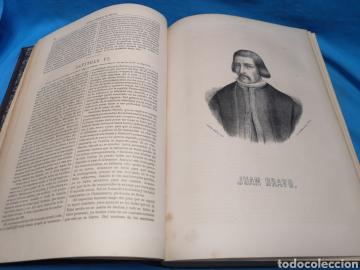 Libros antiguos: Antiguo libro de 1870, crónica general de España, Ávila, Logroño, Santander, Soria, Segovia-Burgos. - Foto 9 - 163827258