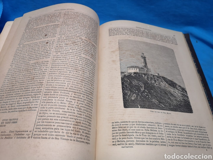 Libros antiguos: Antiguo libro de 1870, crónica general de España, Ávila, Logroño, Santander, Soria, Segovia-Burgos. - Foto 13 - 163827258