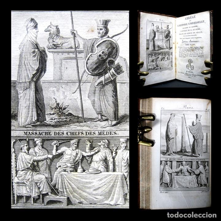 AÑO 1817 HISTORIA DE LA ANTIGUA TROYA PERSIA IBERIA FENICIA PÉRGAMO CIRO ARTAJERJES 3 GRABADOS (Libros antiguos (hasta 1936), raros y curiosos - Historia Antigua)
