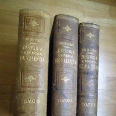 Libros antiguos: DECADAS DE HISTORIA DEL REINO DE VALENCIA . ESCOLANO Y PERALES - 3 TOMOS. Lote 163995430
