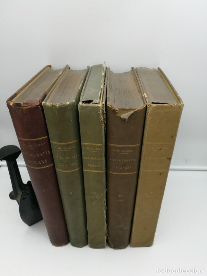 SIGILLOGRAFIA 5 VOLUMENES COMPLETO 1915-1932 (Libros antiguos (hasta 1936), raros y curiosos - Historia Antigua)