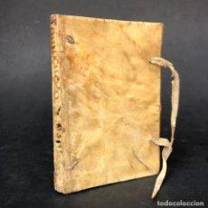 Libros antiguos: 1645 TABLAS CHRONOLOGICAS, Y COMPENDIO DE LAS HISTORIA MAS NOTABLE DE ESPAÑA - PERGAMINO. Lote 164967070