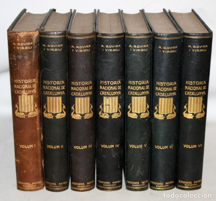 HISTORIA NACIONAL DE CATALUNYA-ROVIRA I VIRGILI-7 TOMS-COMPLETA. (Libros antiguos (hasta 1936), raros y curiosos - Historia Antigua)