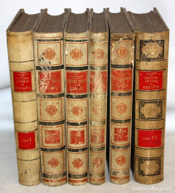 HISTORIA GENERAL DE ESPAÑA-MODESTO LAFUENTE-6 TOMOS-MONTANER Y SIMON. (Libros antiguos (hasta 1936), raros y curiosos - Historia Antigua)