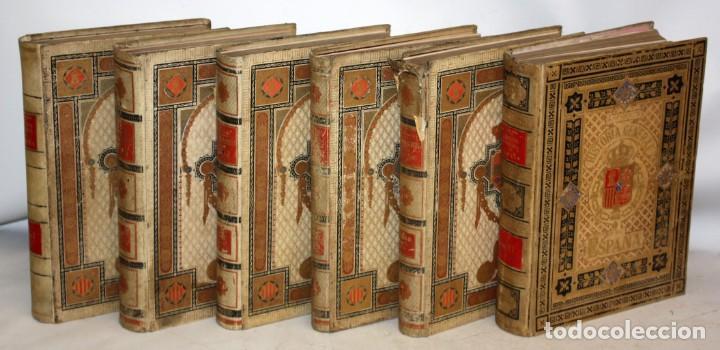 Libros antiguos: HISTORIA GENERAL DE ESPAÑA-MODESTO LAFUENTE-6 TOMOS-MONTANER Y SIMON. - Foto 3 - 165044562