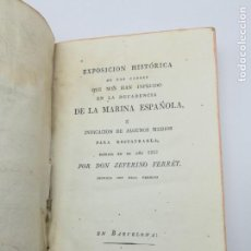 Libros antiguos: EXPOSICIÓN HISTÓRICA DE LA DECADÈNCIA ARMADA ESPAÑOLA 1819. Lote 165221150