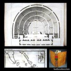 Libros antiguos: AÑO 1788 PRIMERA EDICIÓN DESCRIPCIÓN ANTIGUA GRECIA TEATRO ISLAS MAPA GRABADOS VIAJE DE ANACARSIS. Lote 165267282