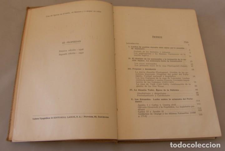 Libros antiguos: HISTORIA DE INGLATERRA - LAMBERT GERBER - EDITORIAL LABOR 1930 / ILUSTRADO - Foto 2 - 165440534