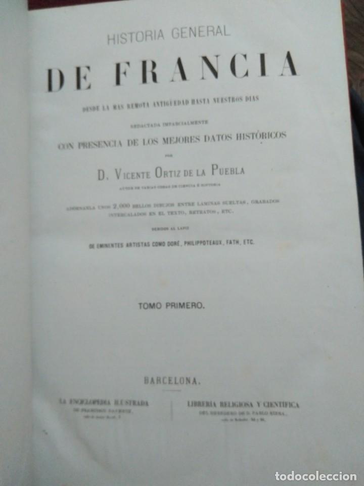 Libros antiguos: 1873. Historia general de Francia. Vicente Ortiz de la Puebla. - Foto 5 - 165851810