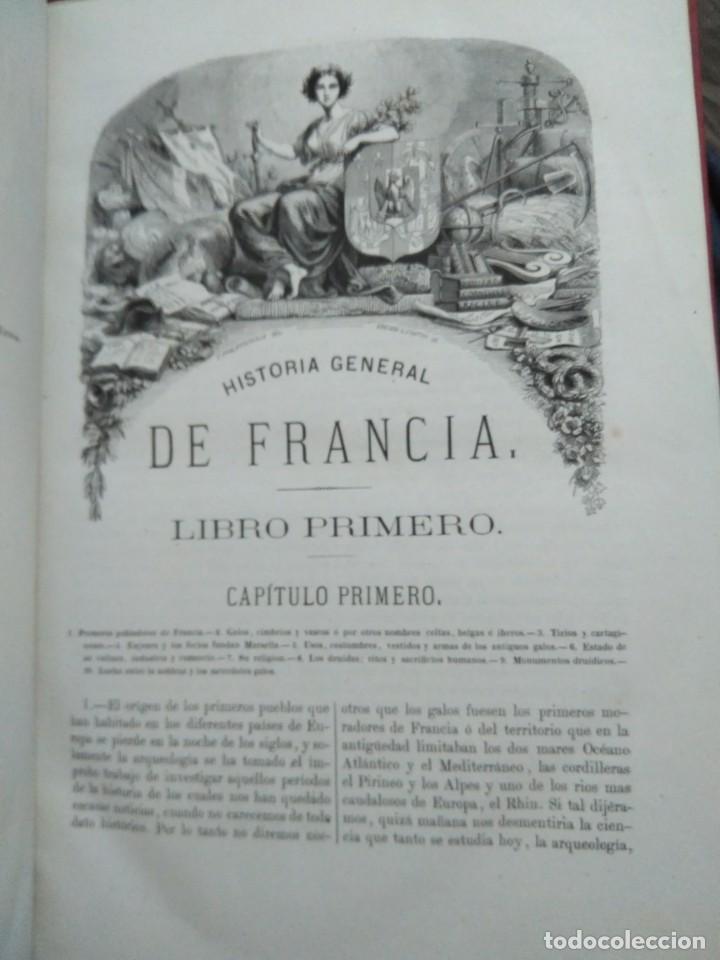 Libros antiguos: 1873. Historia general de Francia. Vicente Ortiz de la Puebla. - Foto 6 - 165851810