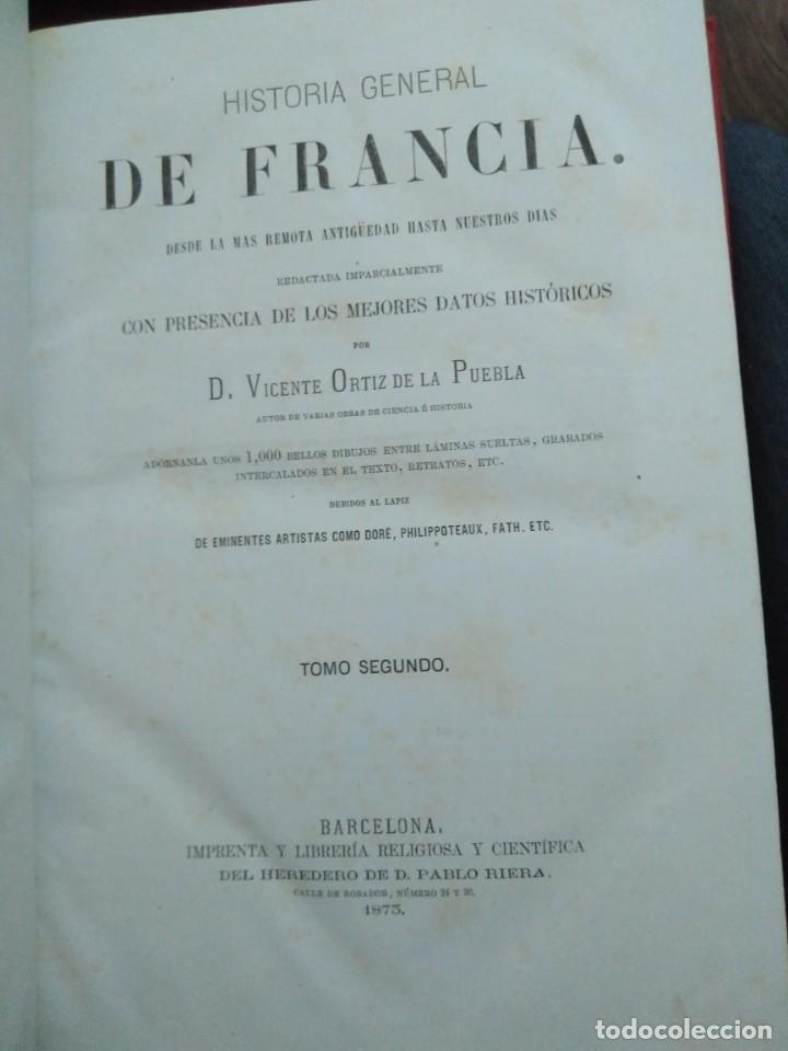 Libros antiguos: 1873. Historia general de Francia. Vicente Ortiz de la Puebla. - Foto 12 - 165851810