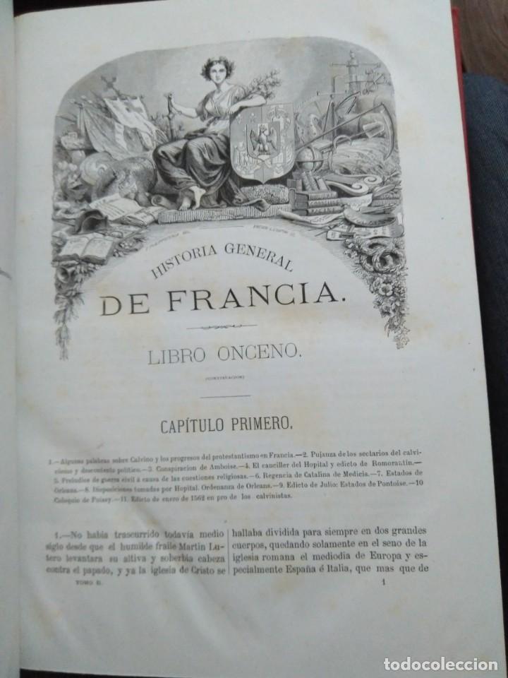 Libros antiguos: 1873. Historia general de Francia. Vicente Ortiz de la Puebla. - Foto 13 - 165851810
