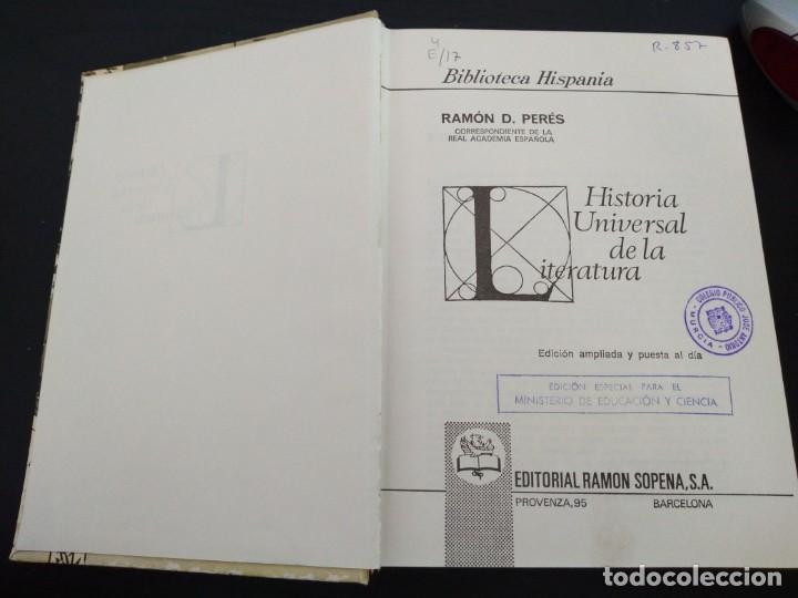 Libros antiguos: Historia Universal de la Literatura -Biblioteca Hispania - Foto 2 - 167246984