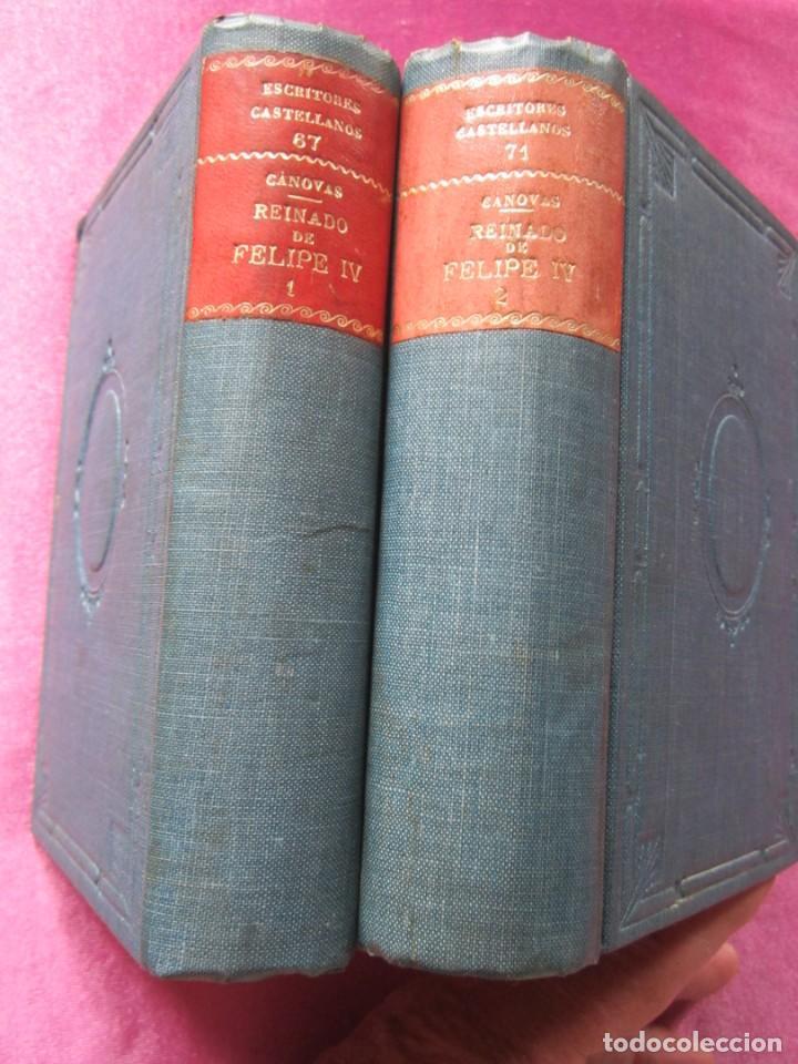 Libros antiguos: REINADO DE FELIPE IV 1888 1ª EDICION SOLO 50 EJEMPLARES EN PAPEL DE HILO. 2 TOMOS COMPLETA. - Foto 3 - 167534256