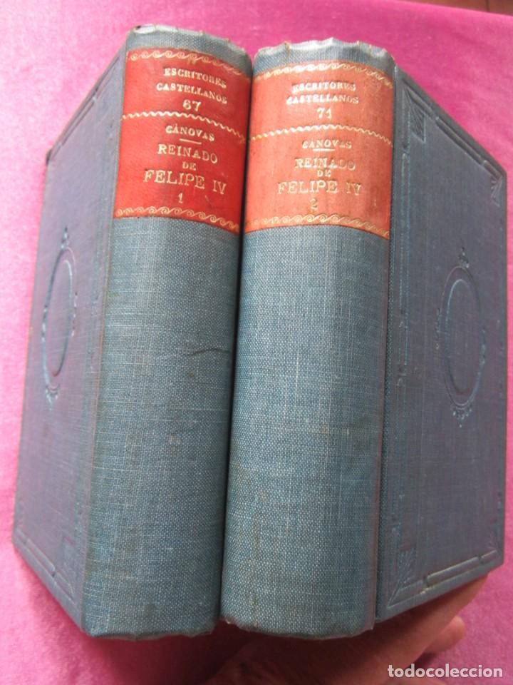 Libros antiguos: REINADO DE FELIPE IV 1888 1ª EDICION SOLO 50 EJEMPLARES EN PAPEL DE HILO. 2 TOMOS COMPLETA. - Foto 4 - 167534256