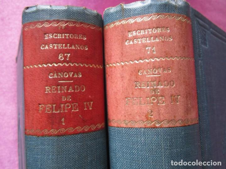 Libros antiguos: REINADO DE FELIPE IV 1888 1ª EDICION SOLO 50 EJEMPLARES EN PAPEL DE HILO. 2 TOMOS COMPLETA. - Foto 5 - 167534256