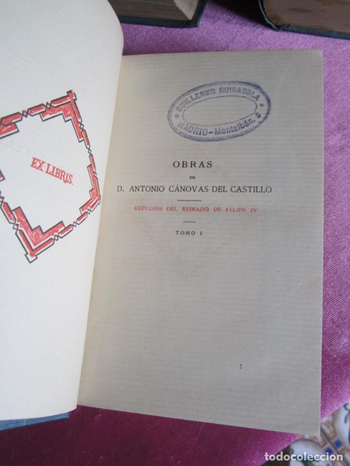Libros antiguos: REINADO DE FELIPE IV 1888 1ª EDICION SOLO 50 EJEMPLARES EN PAPEL DE HILO. 2 TOMOS COMPLETA. - Foto 8 - 167534256