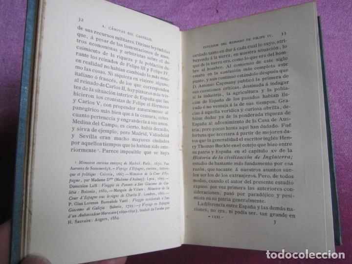 Libros antiguos: REINADO DE FELIPE IV 1888 1ª EDICION SOLO 50 EJEMPLARES EN PAPEL DE HILO. 2 TOMOS COMPLETA. - Foto 10 - 167534256
