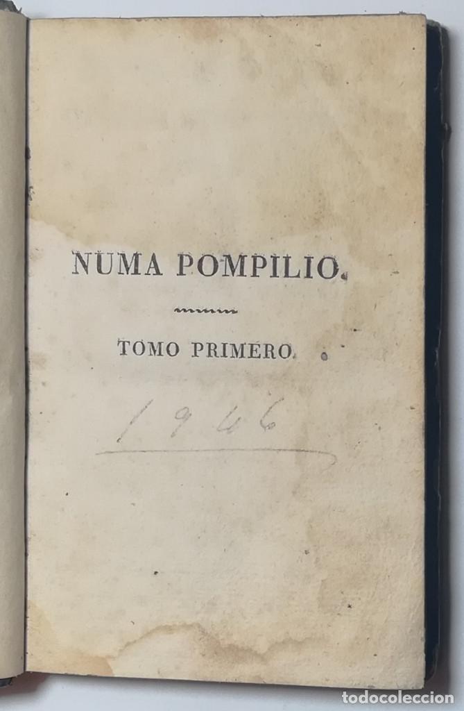 Libros antiguos: 2 TOMOS. NUMA POMPILIO, SEGUNDO REY DE ROMA ,POEMA DEL CABALLERO DE FLORIAN. 1818. - Foto 2 - 168048328