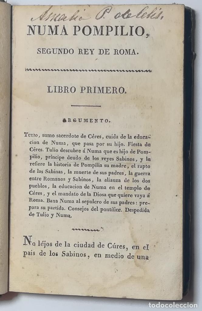 Libros antiguos: 2 TOMOS. NUMA POMPILIO, SEGUNDO REY DE ROMA ,POEMA DEL CABALLERO DE FLORIAN. 1818. - Foto 4 - 168048328