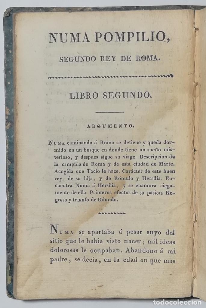 Libros antiguos: 2 TOMOS. NUMA POMPILIO, SEGUNDO REY DE ROMA ,POEMA DEL CABALLERO DE FLORIAN. 1818. - Foto 5 - 168048328